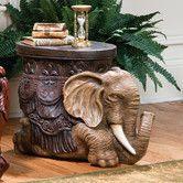 Elegant Hand Finished Elephant Sculptural End Table Rustic Living Room Art Decor Elephant For Sale, Deco Elephant, Elephant Table, Elephant Home Decor, Elephant Design, Elephant Pics, Elephant Stuff, Ceramic Elephant, Dremel