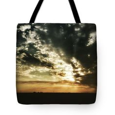 "Mcfarland Sunset Tote Bag 18"" x 18"" by Leah McPhail"