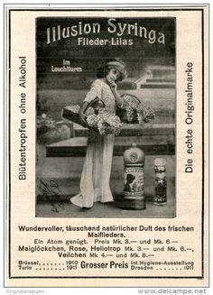 Original-Werbung/Inserat/ Anzeige 1912 - ILLUSION SYRINGA PARFUM ca. 130 X 90 mm