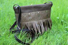 """Купить Сумка из натуральной кожи """"Indian summer. Grey"""" - женская сумка, сумка из натуральной кожи"""
