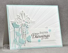 Easter Blessings Card by Kim Singdahlsen #Cardmaking, #CAS, #Easter, #Faith, #EmbossingFolders, #TE, #ShareJoy