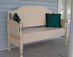 large maple headboard bench