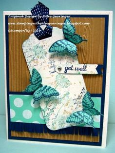 Butterfly Get Well Wishes  by Julie Gearinger - Cards and Paper Crafts at Splitcoaststampers
