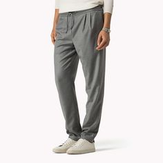 Tommy Hilfiger Cotton Viscose Pant - dark steel (Grey) - Tommy Hilfiger Trousers - главное изображение