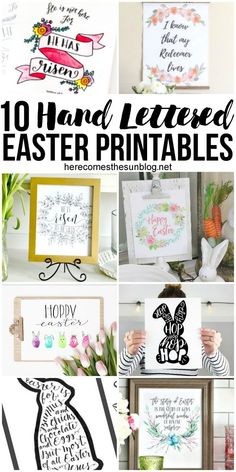These beautiful hand letttered Easter printables make decorating easy!