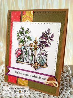 Out To Impress: Power Poppy Sneaks Day 3: Go Wild stamp set by Power Poppy, card design by Julie Koerber.