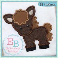 Embroidery Boutique Horse Applique