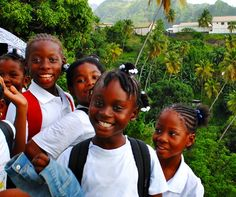 School girls at St Vincent - follow us during the Liming Live Week and meet locals! http://www.discoversvg.com/liming