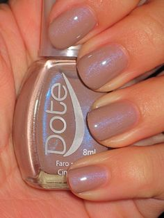 A light taupe with a blue flash