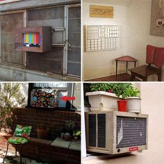 How to hide AC unit - SHUTTERS make a open top box!