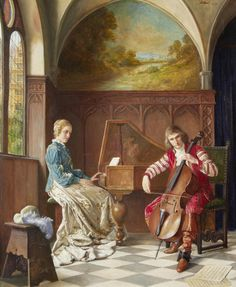 View A musical duet by Erwin Eichinger on artnet. Browse upcoming and past auction lots by Erwin Eichinger. Musical Duets, Music Painting, Music Pictures, Music Images, Painter Artist, Great Paintings, Vintage Music, Woman Painting, Classical Music
