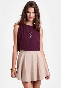 Roxanne Circle Skirt In Beige at #threadsence @ThreadSence