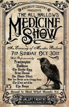 Old Fashion Medicine Show Poster