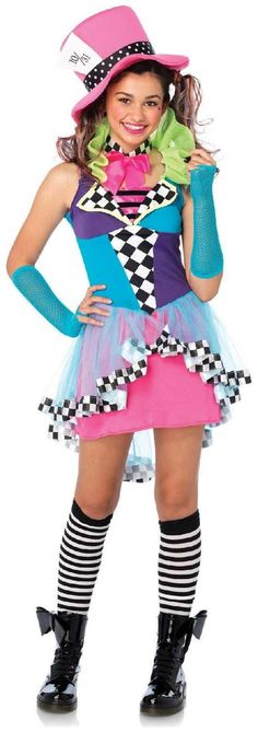 PartyBell.com - Deluxe Mayhem Mad Hatter Teen Costume