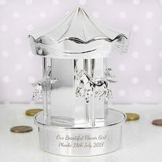 Personalised Carousel Money Box - Sterling Silver Piggy Bank - Gifts For Kids - Children's Birthday - Christening Present - Baptism Gift Personalised Money Box, Personalized Baby Gifts, Silver Money Box, Kids Money Box, 1st Birthday Gifts, Unique Baby Gifts, Baptism Gifts, Silver Gifts, Christening Gifts
