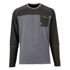 Ascend Convergence Crew Shirt for Men - Gray Heather - S