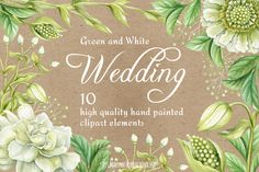 Wedding watercolor clipart elements by Maryna on @creativemarket