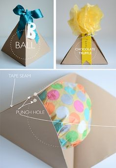 cute for a party favor willowday: Gift Wrap #16: Pyramid Packages