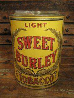 Fabulous Early Old Large General Store Tobacco Tin Bin