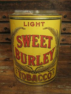 Fabulous Early Old Large General Store Tobacco Tin Bin