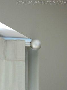 Make Your Own Curtain Rod Finials for Under $3 {DIY Curtain Rod Solution} - bystephanielynn