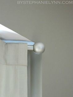 Make Your Own Curtain Rod Finials for Under $3 {DIY Curtain Rod Solution}