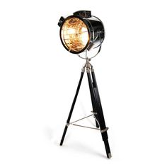{hollywood tripod floor lamp} reproduction of '40s lamp - cool!