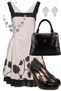 Like the freshness of this look for a dressy occasion -- might be even better if it had color somewhere