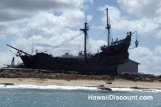 The Black Pearl from Pirates of the Caribbean located on Oahu #Hawaii