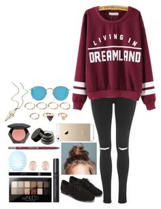 """""""Untitled #298"""" by syd2002 ❤ liked on Polyvore featuring Topshop, Bare Escentuals, Maybelline, Sisley, Kenneth Jay Lane, Forever 21, Urban Decay, H&M, FingerPrint Jewellry and maurices"""