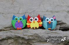 https://flic.kr/p/uR7qNi   Owl magnet, polymer clay, Mountain Pearls by nataša Hozjan Kutin   Mountain Pearls by Nataša Hozjan Kutin