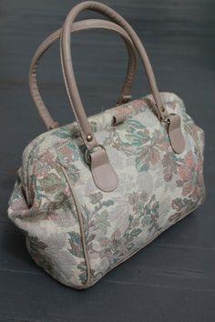 Floral Handbag Neutral Flower Purse Shabby by PrimaDonnaBoutique, $22.00