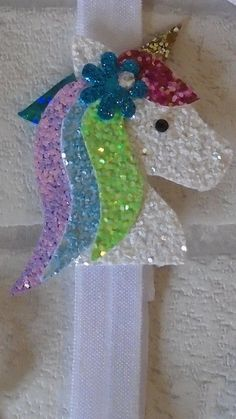 unicorn hair clip unicorn headband alice band by Sandisministyles