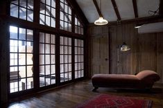 Loft can be closed off or open, but is always open to the light from ceiling height windows in main room. Wall of windows with French doors Loft Spaces, Living Spaces, Living Room, Westport Homes, Window Wall, Humble Abode, Home Decor Inspiration, Architecture Design, Sweet Home