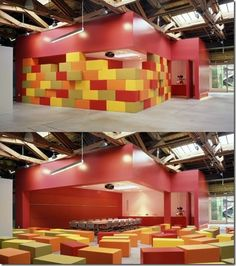 Giant Building Blocks To Create Smaller Spaces Within Large Area