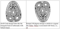 rattlesnake or jaguar? or mayan venus?