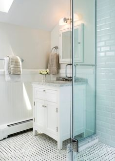 ideas astounding country cottage bathroom ideas using small single sink wood vanity with carrara marble countertop under recessed mirrored medicine cabinet and nickel towel ring