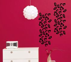 For the washer/dryer. Leopard Panels Set of 2 Vinyl Wall Decal Lettering