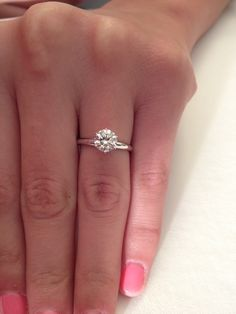 Something about a round solitaire ring is just simply beautiful. Never gaudy, just simple.
