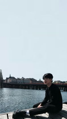 """baepzae: """" Some Jimin by the pier wallpapers~ """""""