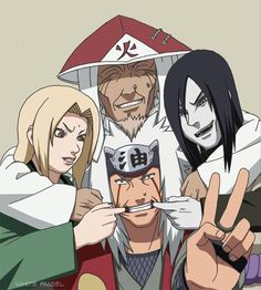 I love this team.. Jiraiya, Tsunade, Orochimau, and Hiruzen-sensei.. ❤
