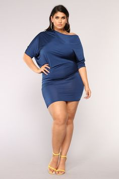 e069fe18757 Plus Size Zadie Unbalanced Dress - Navy  24.99  fashion  ootd  outfit   oufits