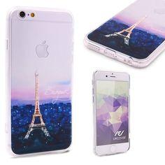 Urcover® Semi Softcase Hülle   Apple iPhone 6 Plus / 6s Plus   TPU Muster Eiffelturm   Kamera-Schutz   Handyhülle   Cover Backcase Handyschutz 7,90€