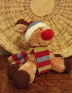 RUSS SNOWY DAYS SAMI PLUSH REINDEER RIKEY AUSTIN Christmas Rudolph Red Nose #Russ