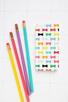 Bows!!! Studio DIY & Pencil Shavings iPhone Case  by PencilShavingsStudio