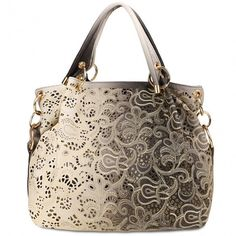 Women Fashion Elegant Large Capcity Hollow Gradient Color Hobos Style Shoulder Bags Handbag Totes