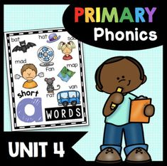 This all in one unit has everything you need to teach your kindergarten and/or first grade students about CVC words and word families. This download comes complete with literacy centers, worksheets, no prep activities and adorable posters - 96 pages you can print and use with your students.---------...