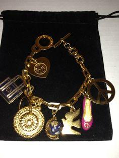 Tory Burch Foundation Gold Charm Bracelet  LIMITED EDITION #ToryBurch #CharmBracelet