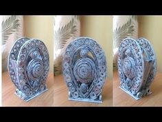 DIY | newspaper table | newspaper art | best out of waste | Art with Neha 88| - YouTube