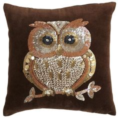 Pier 1: Sequin Owl Pillow #EastwoodTowneCenter